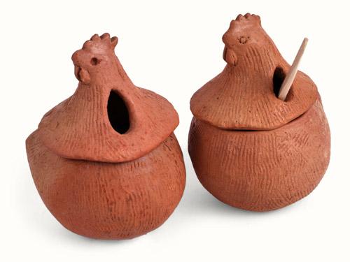 Alcaparras cer micas con cuchara for Articulos de ceramica