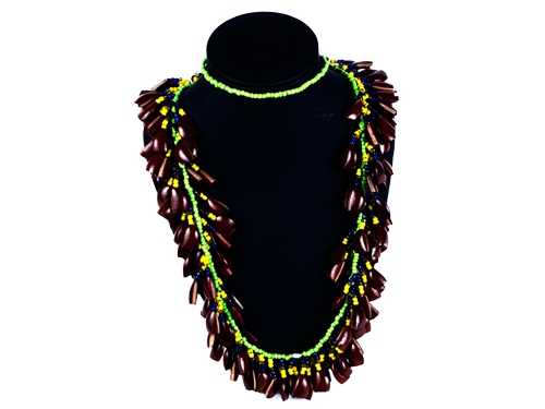 Collar Chaquiras y Semillas