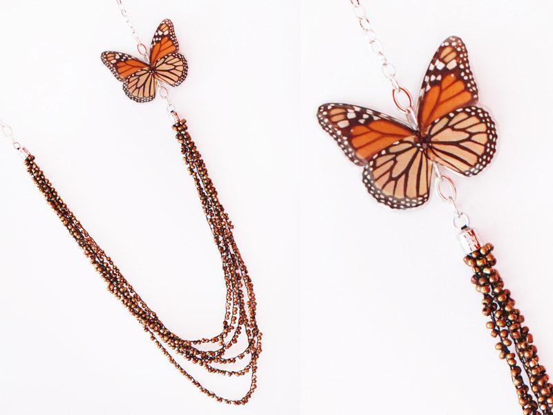 Collar Tejido Mariposa