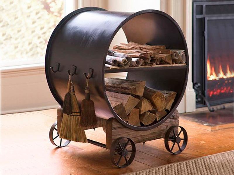 Puerta madero galer a artesanal artesan as de colombia - Chimeneas moviles ...