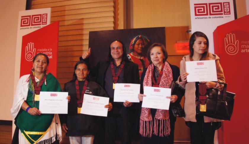 Ganadores medalla a la Maestría Artesanal 2014